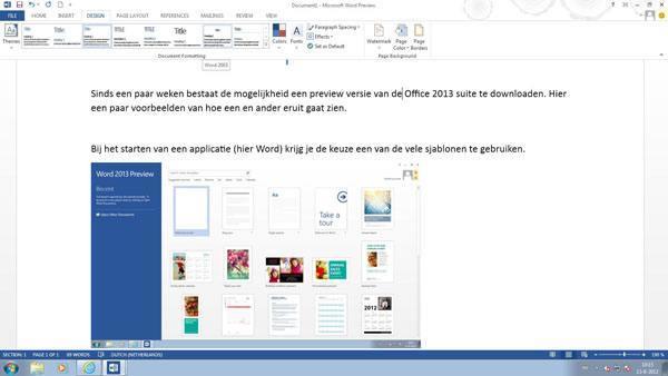 Office 2013 Word - Design header