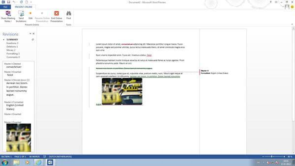 Office 2013 Word - Document Revisions