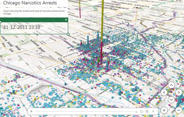 GEO MAP Chart in Excel doormiddel van geo flow in excel 2013