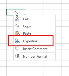Excel hyperlink