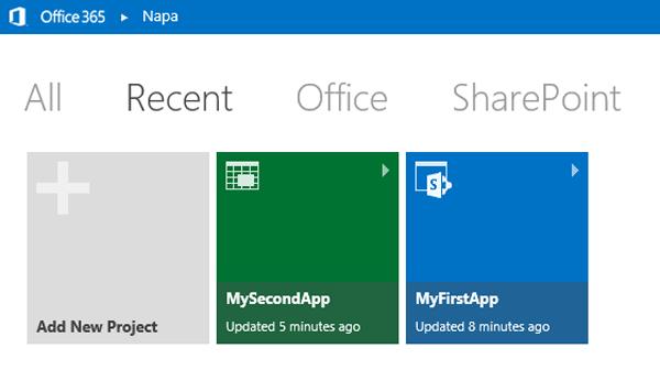 Office Apps overzicht in de browser