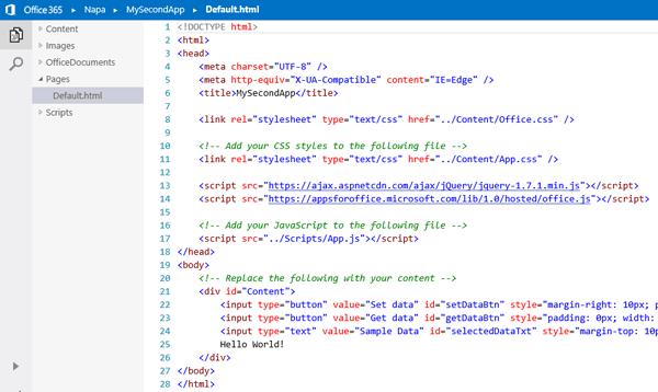 Office Apps ontwikkelen via de browser
