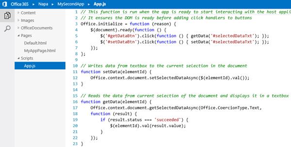 Office Apps met de browser editor