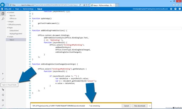 Office Apps exporteren naar Visual Studio