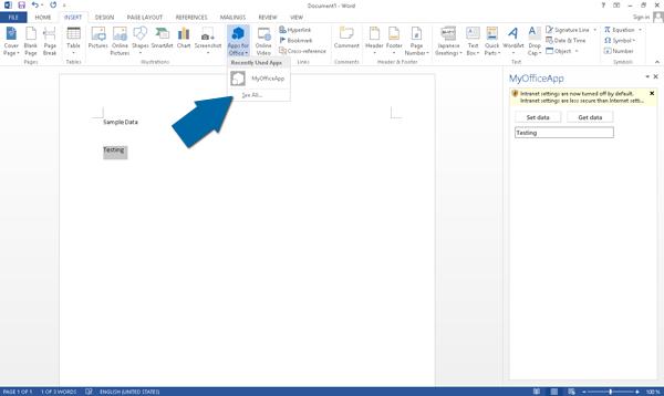 Alle Office Apps bekijken binnen Microsoft Word
