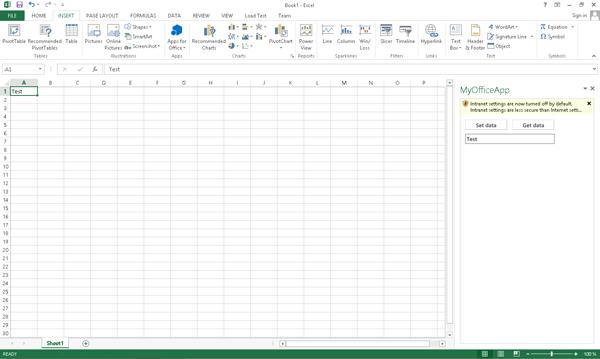 Office Apps binnen Microsoft Excel