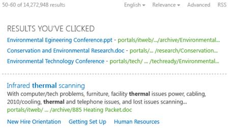 SharePoint 2013 Zoek resultaten