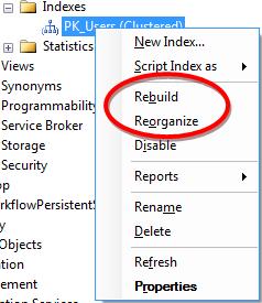 SQL Server - Index fragmentatie