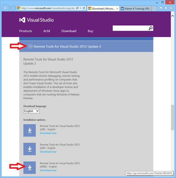 apps testen op Windows RT